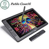 Монитор графический Parblo Coast16, рабочая поверхность 344*194мм, разрешение 1920*1080 - Full HD