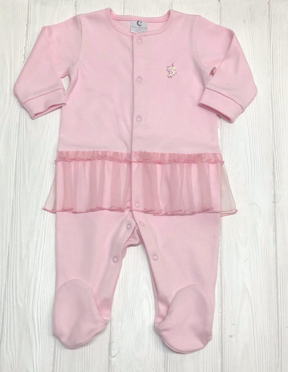 Слип детский с юбочкой из евросетки Розовый