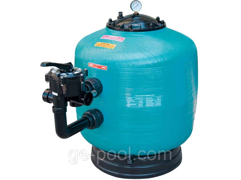 Фильтр песочный для бассейна Gemas Turbidron-BL до 40м3 Ø 500мм, 10 м3/ч, Армированый ABS пластик