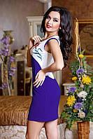 Яркое платье мини,лиф-вышивка, фото 1