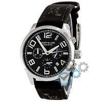 Наручные часы Montblanc TimeWalker Quartz Black-Silver-Black (копия)