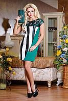 Оригинальное короткое платье, цветы перфорация, фото 1
