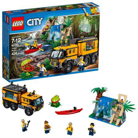 Конструктор LEGO City 60160 Jungle Explorer Передвижная лаборатория в джунглях, лего 60160