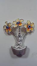 Грошове дерево Квіти на чаші багатства розмір 12*9