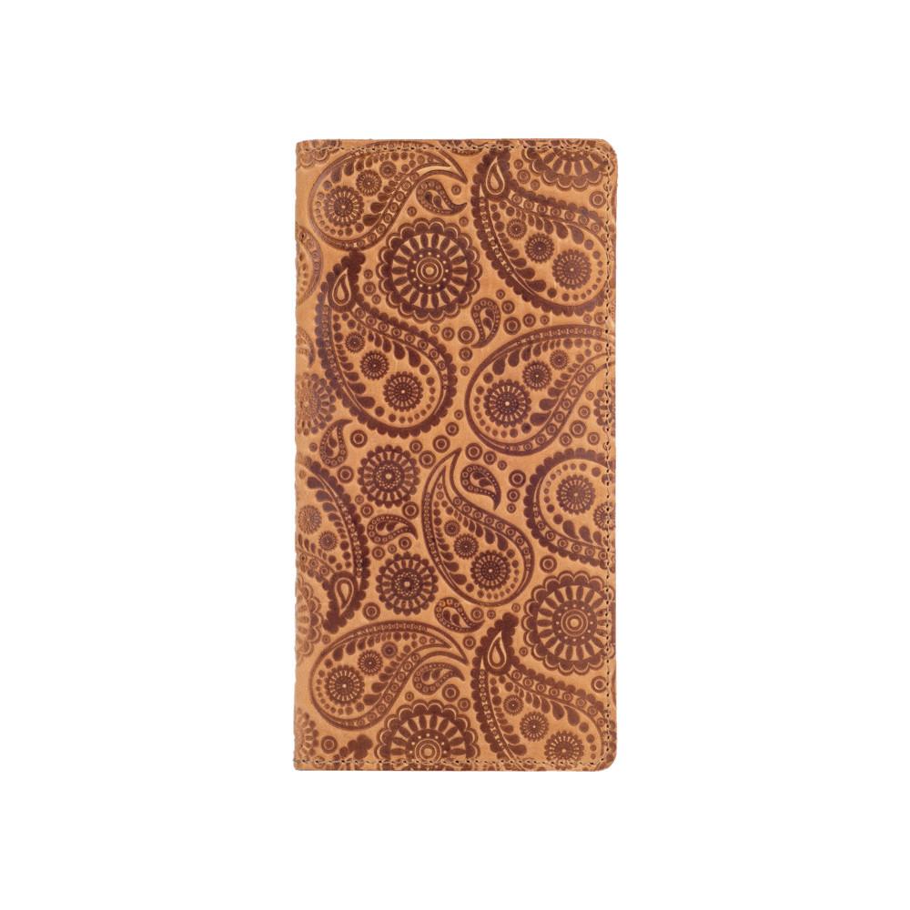 """Бумажник с матовой натуральной кожи светло желтого цвета на 14 карт, коллекция """"Buta Art"""""""
