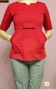 Женский медицинский хирургический костюм красный