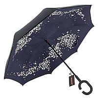 ➣Зонт Up-Brella Сакура умный ветрозащитный зонт наоборот зонт-трость обратного сложения женский