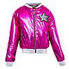 Детская курточка для девочки блестящая розовая, фото 5