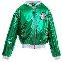 Демисезонная куртка бомбер для девочки размер 134-152