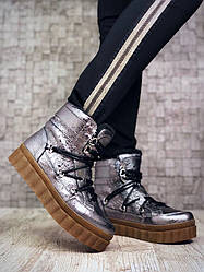 36, 37, 39, 40 розмір! Зимові черевики жіночі нікель на шнурівці натуральна шкіра