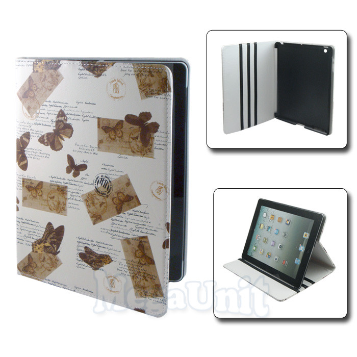 Чехол-папка butterfly для Apple iPad 2/3/4 brown