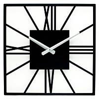 Дизайнерские часы металлические Glozis-B-024 New York Black Нью-Йорк черные (35х35см) [Металл, Открытые, Цвета]