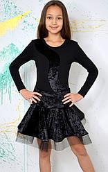 Танцевальная юбка из креш-бархата