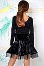 Танцевальная юбка из креш-бархата, фото 2
