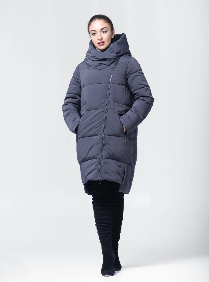 Удлиненная зимняя женская куртка BTF-1883 - графитовая