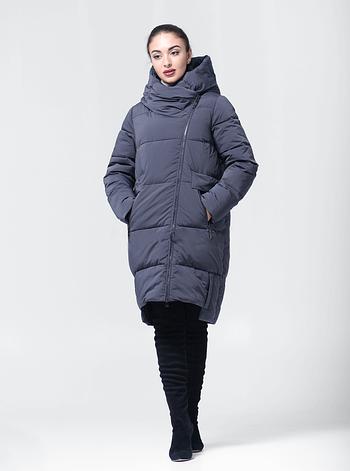 Удлиненная зимняя женская куртка BTF-1883 - графитовая, фото 2