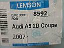 Лобовое стекло Audi A5 (Купе, Хетчбек) (2007-2018) с датчиком дождя |Лобове скло Ауді А5 | Автостекло Ауди А5, фото 4