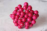 Глянцевые ягоды малинового  цвета (калина) около 40 шт/уп., фото 1