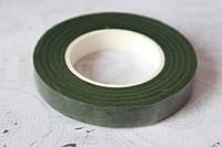 Флористическая тейп-лента темно-зеленого цвета ширина 12 мм