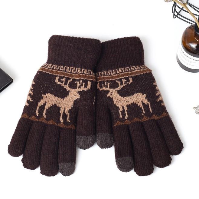 Перчатки утепленные для сенсорных экранов Brumal brown