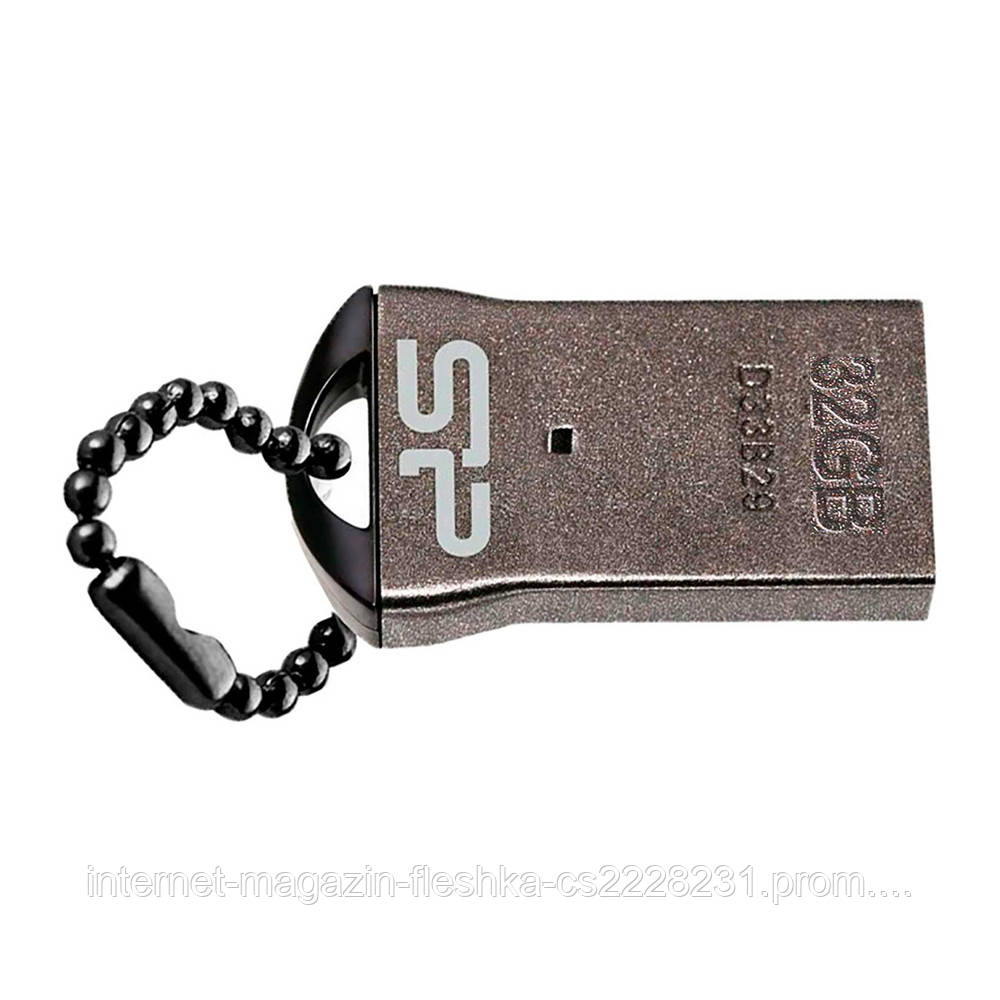 USB-флешка   SiliconPower Touch T01 32Gb Black no chain metal
