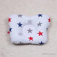"""Детская Ортопедическая подушка """"American Stars"""" для новорожденных"""