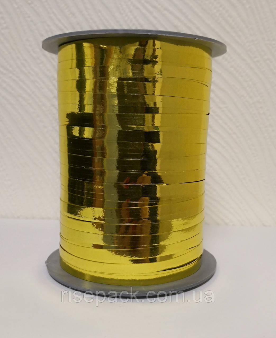 Лента металлизированная ЗОЛОТО лимонное