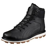 Ботинки мужские Puma Desierto Fun L 364300 01 (черные, кожаные, с мехом, зима, подошва ЕВА, бренд пума), фото 1