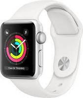 Смарт Часы Apple Watch Series 3 38mm Silver Aluminum Case with White Sport Band (MTEY2)