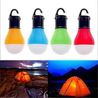 Лампа с крючком для палатки, кемпинг, 3 LED фонарь + подарок батарейки