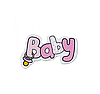 """Декоративное деревянное украшение """"Baby"""" розового цвета"""