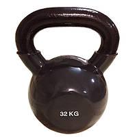 Цветная виниловая гиря 32 кг Rising для дома и спортзала
