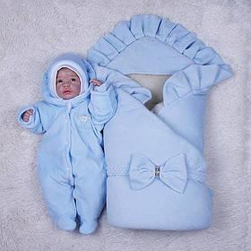 """Зимний набор на выписку """"Мария+Brilliant Baby"""" голубой"""
