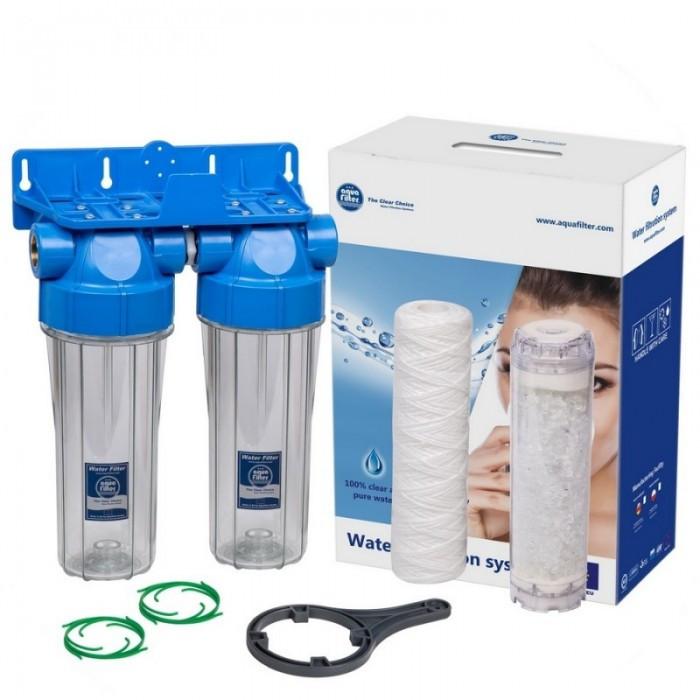 Aquafilter FHPRCL34-B1-TWIN двухступенчатая линейная система для очистки воды