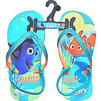 Пляжные сланцы Disney Finding Dory для девочки 23 - 24 рр шлепки с резиночкой Дисней Немо Дори оригинал