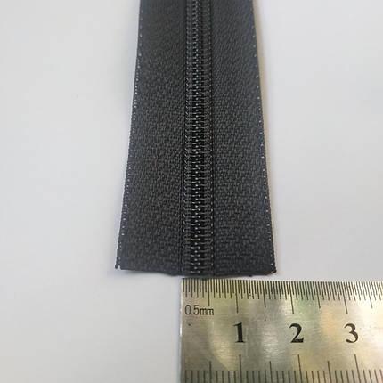 Молния-застежка 6мм Чёрная, фото 2