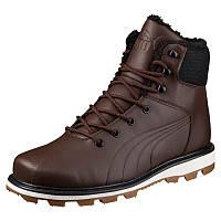 Ботинки мужские Puma Desierto Fun L 364300 02 (коричневые, кожаные, с мехом, зима, подошва ЕВА, бренд пума), фото 1