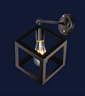 Настенный светильник,бра лофт 707W136-1BK