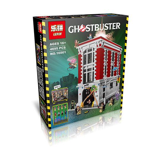 """Конструктор Lepin 16001 """"Штаб-квартира Охотников за привидениями"""" (аналог Lego Ghostbusters 75827 ), 4695 дет"""