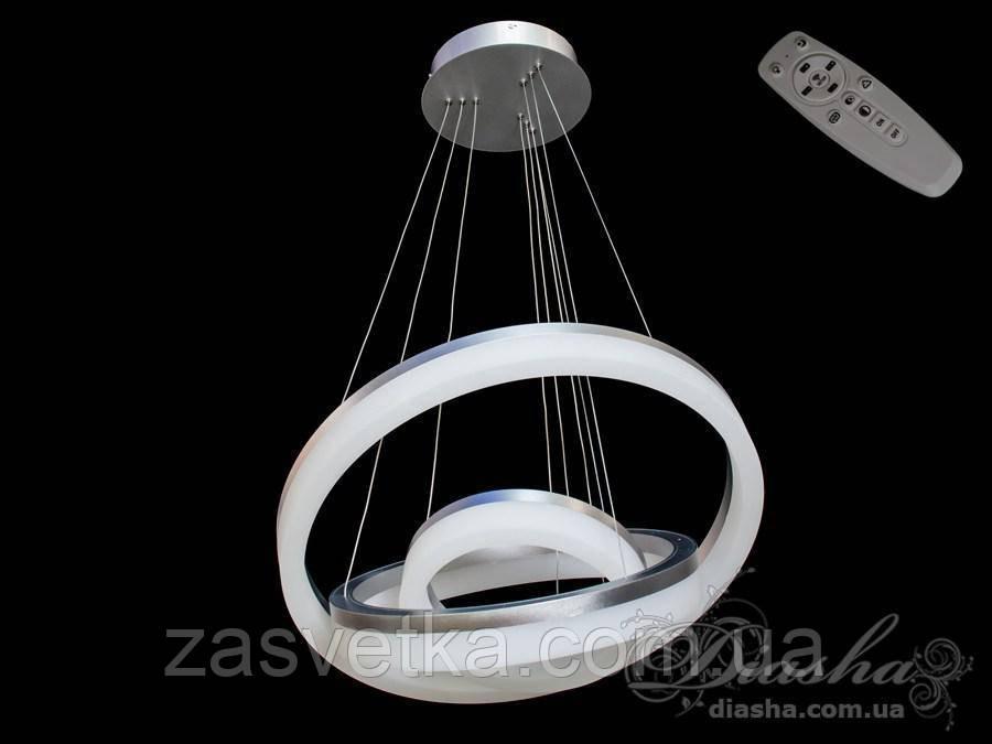 Светодиодная люстра 160ват  хром с диммером 8123-600+450+300 хром