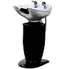 Парикмахерская Мойка без кресла на колонне zd-b39 белая/черная керамическая раковина с сантехникой