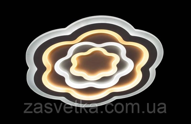 Светодиодная люстра с порежимным включением потолочная   6609-53*53