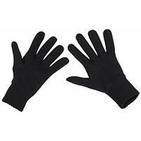 Перчатки трикотажные чёрные S/M MFH 15443A
