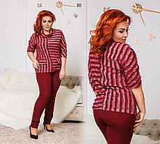 Костюм БАТАЛ  брюки+кофта в расцветках 04с505, фото 2