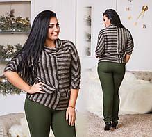Костюм БАТАЛ  брюки+кофта в расцветках 04с505, фото 3