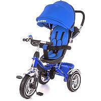 Детский велосипед трехколесный KidzMotion Tobi Pro Blue синего цвета / велосипед трехколесный для мальчика