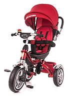 Детский велосипед трехколесный KidzMotion Tobi Pro Red красного цвета / велосипед трехколесный для девочки