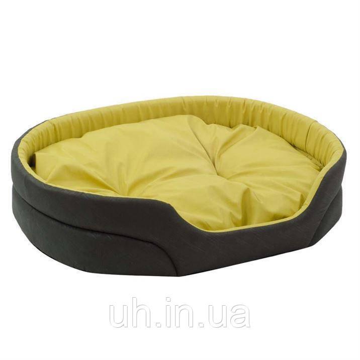 """Лежак для собак Природа """"Омега"""" 4 хаки/желтый"""