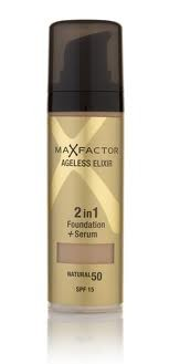 Основа тональная для лица Max Factor AGELESS ELIXIR 2 в 1 Foundation+ Serum (Макс Фактор Эликсир)