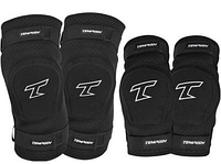 Комплект спортивной защиты наколенники, налокотники Tempish BING черного цвета